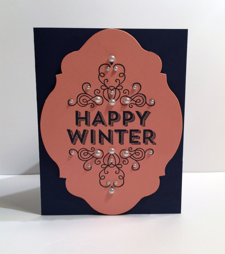 Happy Winter card - Stamp Candy