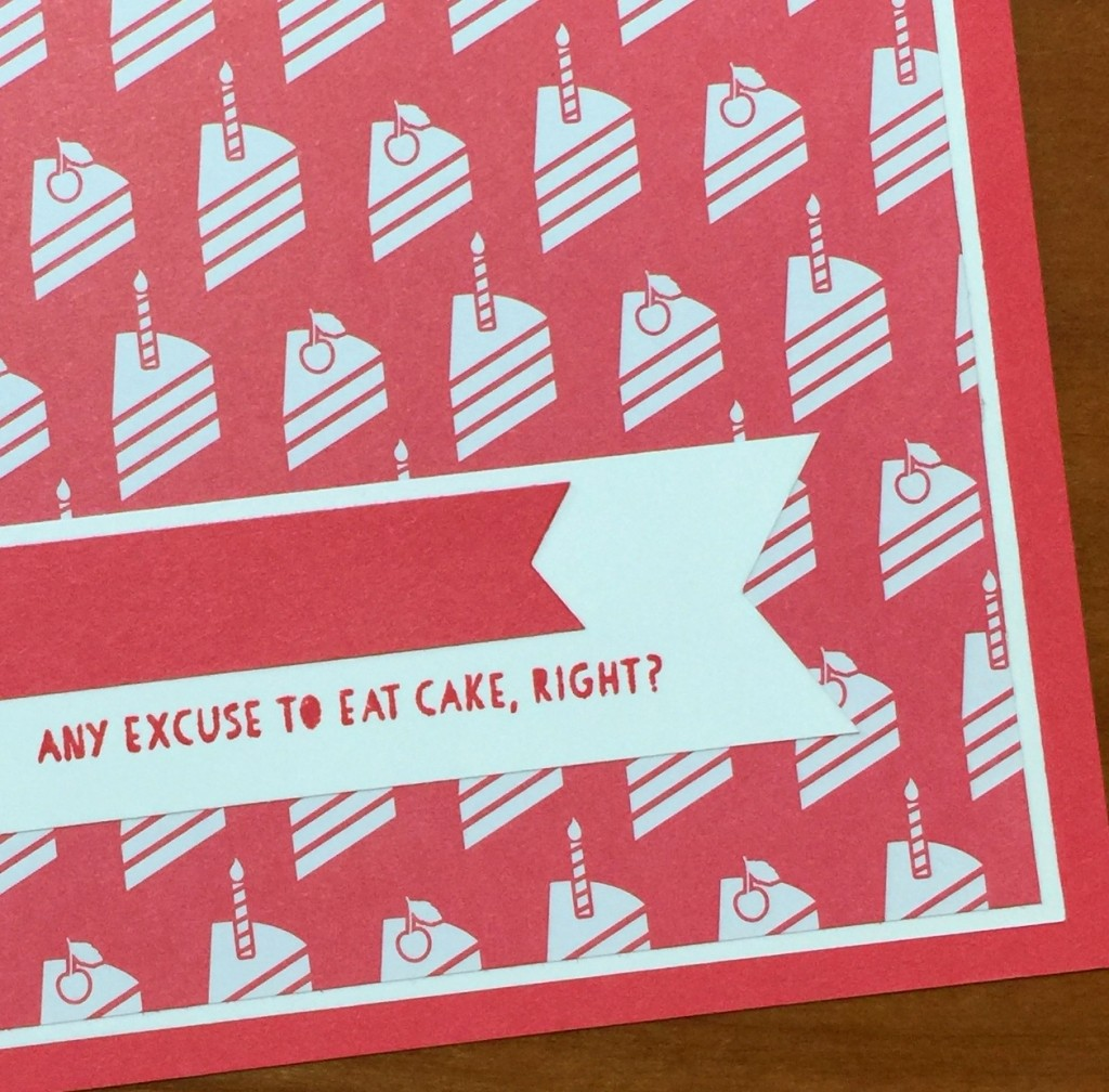 any excuse to eat cake card c