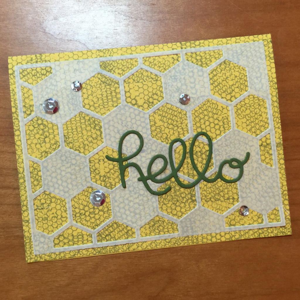 hello honeycomb card a
