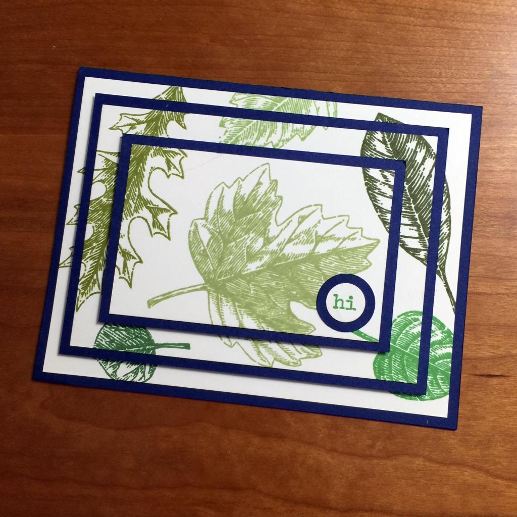 three tier leaves card b
