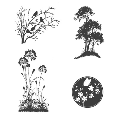 Serene Silhouettes stamp set