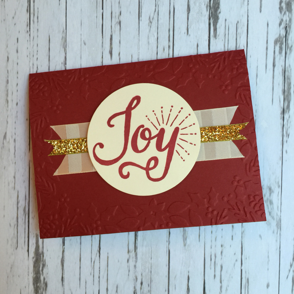 Joy cherry cobbler embossed card a
