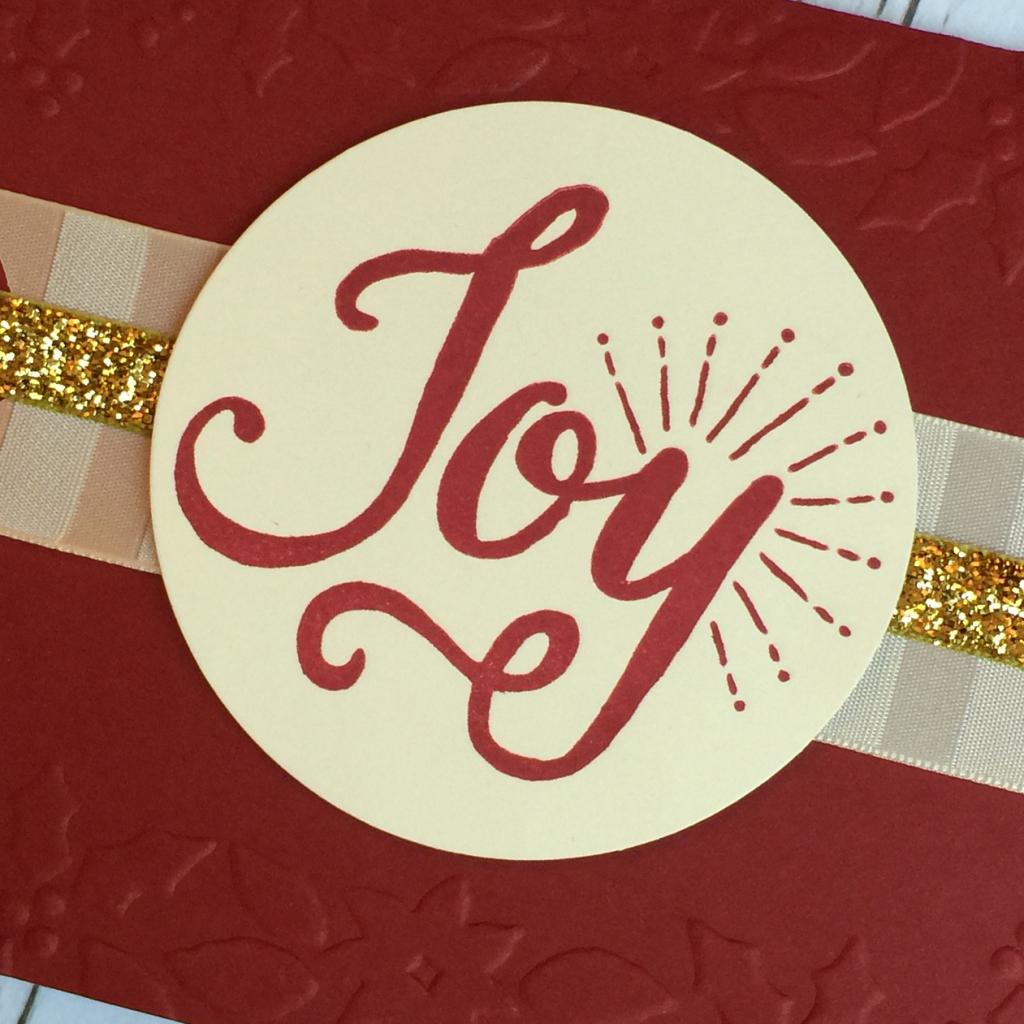 Joy cherry cobbler embossed card b