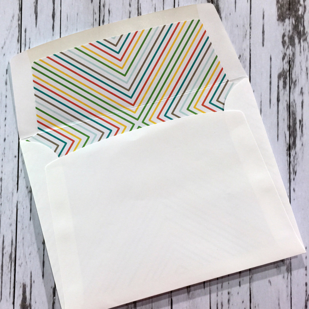 rainbow wedding card envelope