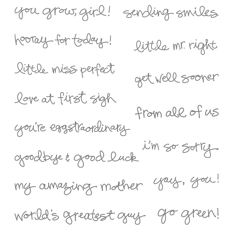 Greatest Greetings stamp set