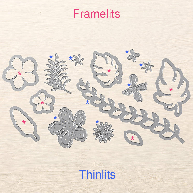 Botanical Builder Framelits labeled