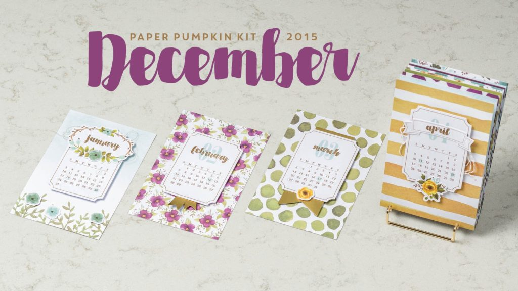 Paper pumpkin calendar cards stamp candy for those of you who were fortunate enough to receive the december 2015 paper pumpkin it sold out in record time which made this lovely calendar m4hsunfo