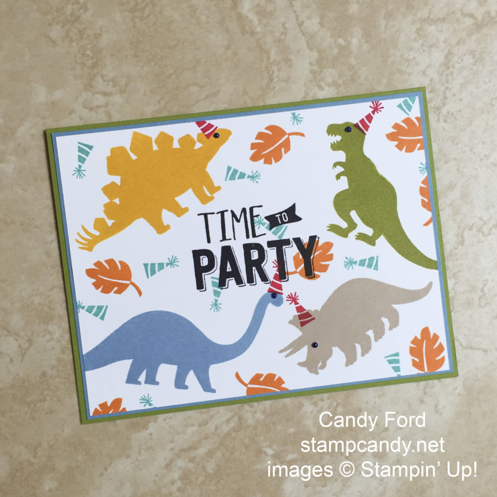 Dino party card b