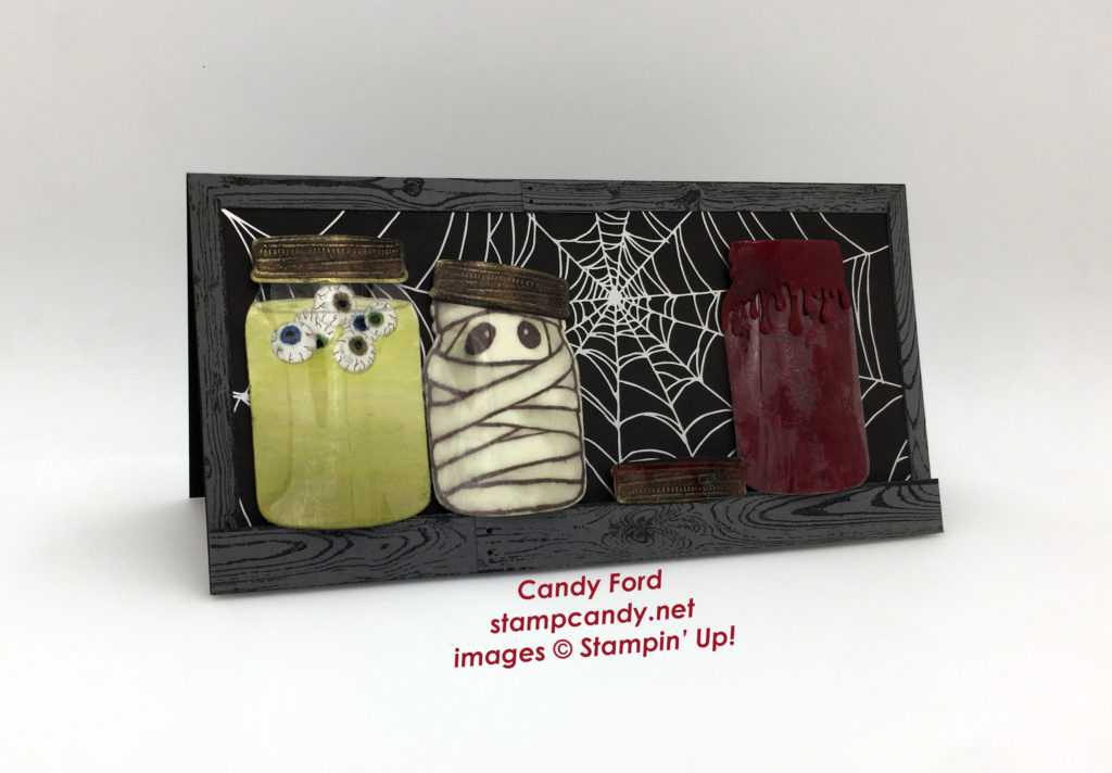 Halloween jar card a