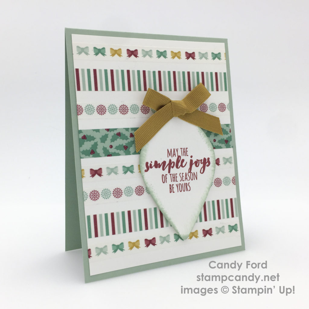 Pinecone washi tape card b