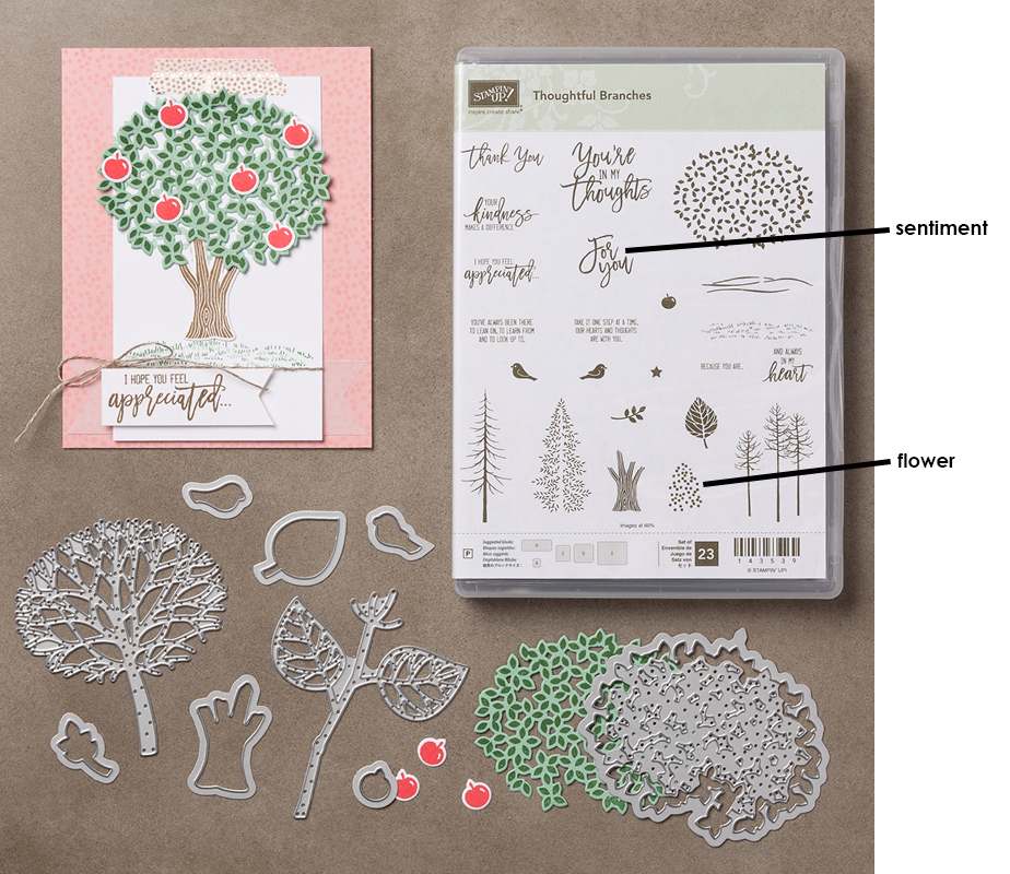 Thoughtful Branches bundle for flower note card