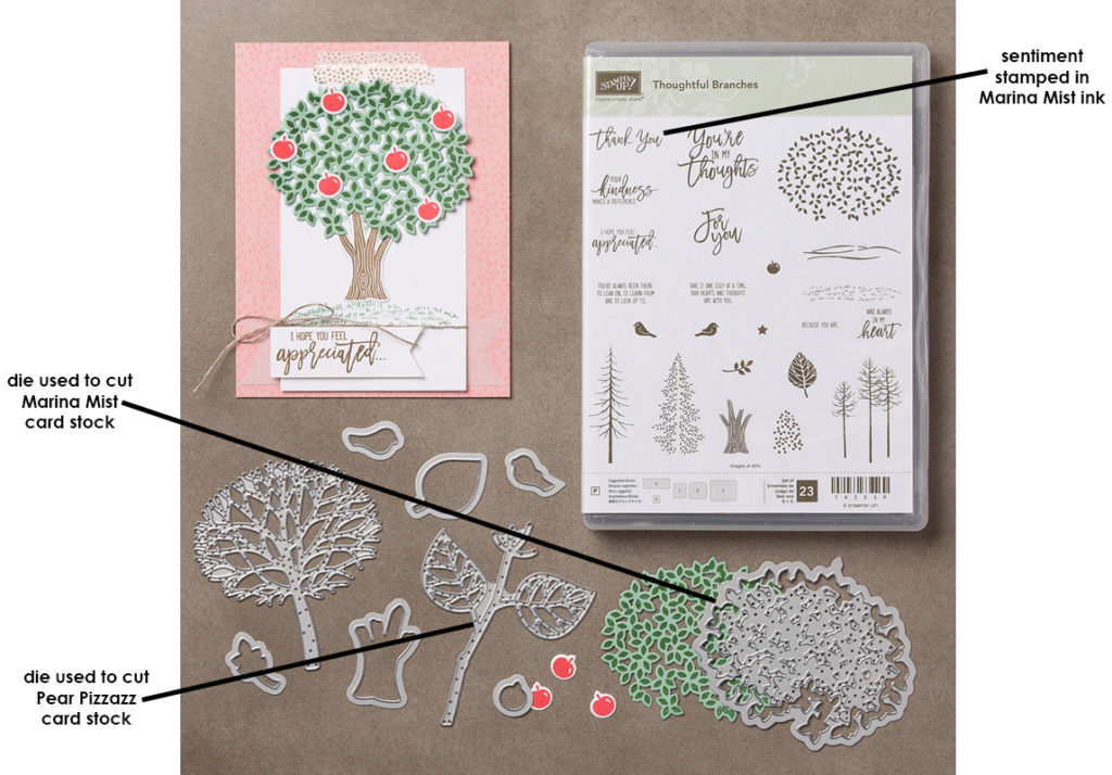 Thoughtful Branches bundle for hydrangea card