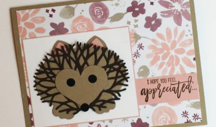 Click through to stampcandy.net for details! Stampin' Up!, Thoughtful Branches bundle stamp set Beautiful Branches Thinlits dies, hedgehog, punch art, hand made card, diy crafts