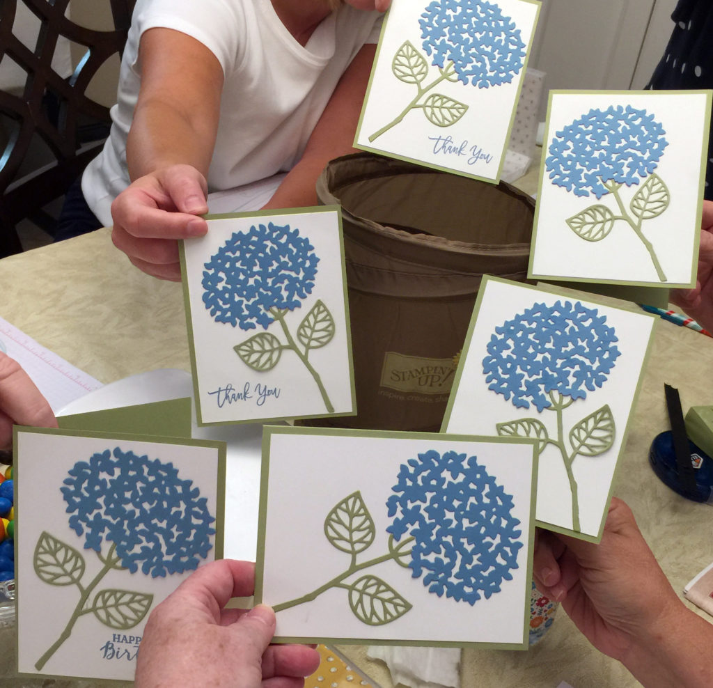 hydrangea card - group