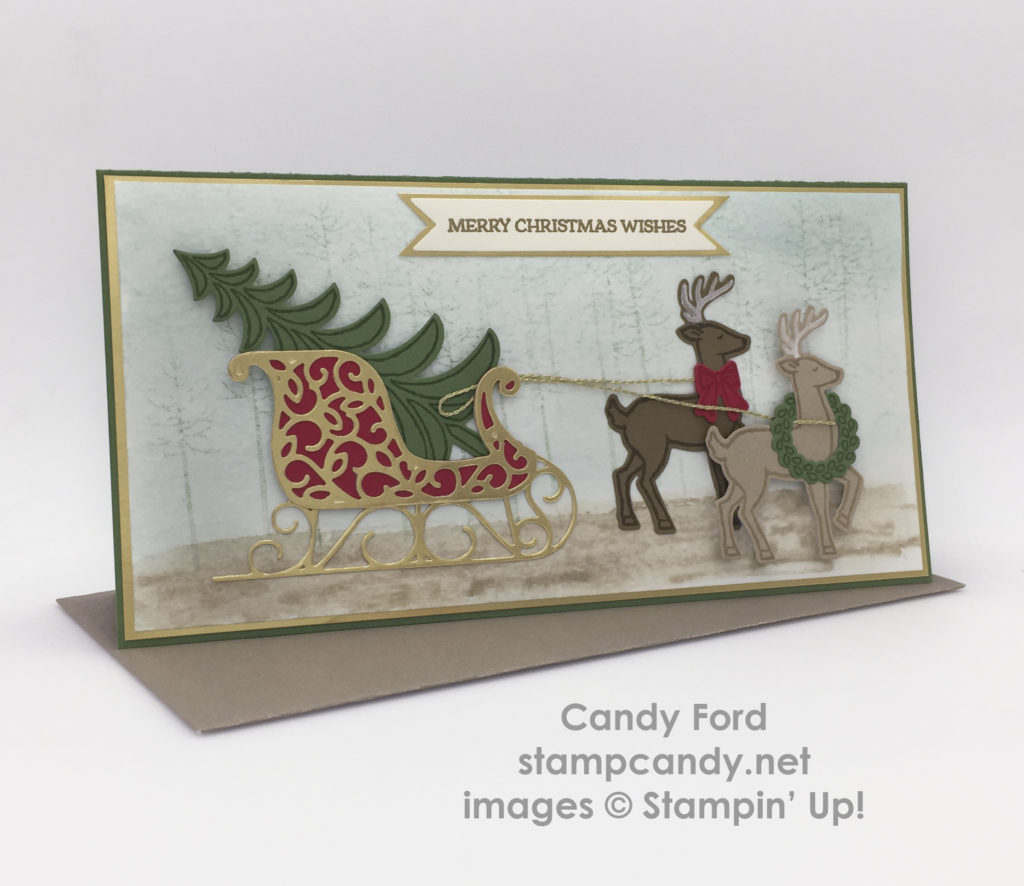 Santa 39 s sleigh to bogo sale and open house stamp candy for Santa cards pinterest