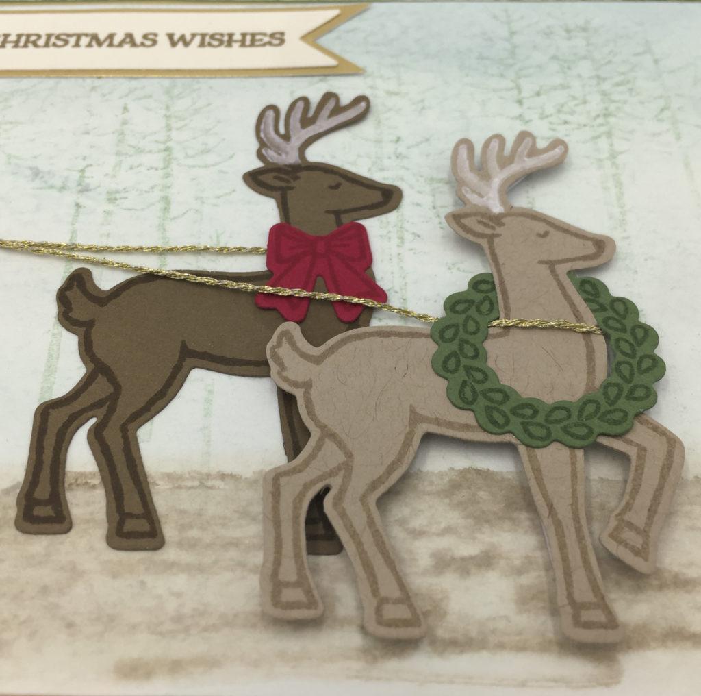 santa's sleigh card c