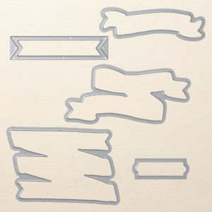 Bunch of Banners Framelits Dies © Stampin' Up! #stampcandy