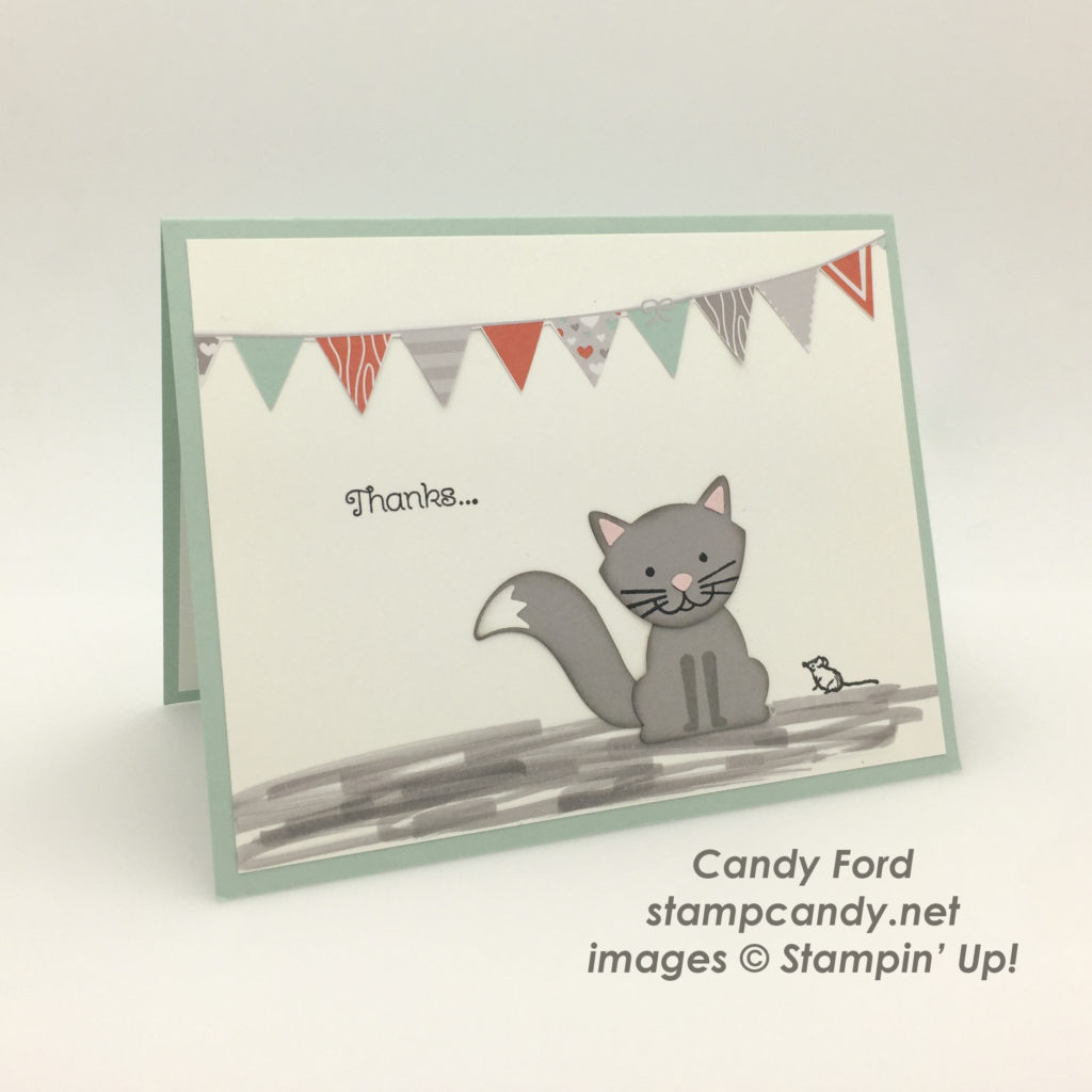 cat and mouse thank you card a