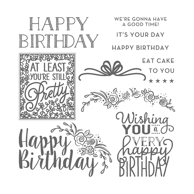 Big on Birthdays stamp set © Stampin' Up! #stampcandy