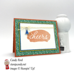 Reverse Words stamp set, Party Animal DSP & Embellishments, Tangerine Tango, Emerald Envy, Crushed Curry, Pacific Point, Baker's Twine #stampcandy