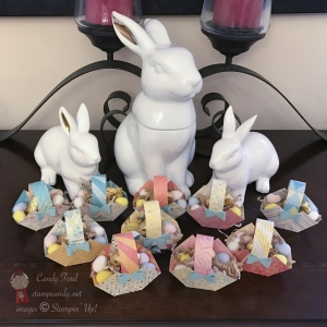 Cute little baskets you can modify for any occasion - Cupcakes & Carousels, Stampin