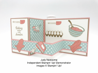 Sweet as can be Double Z Fold card made by Judy Newsome using the Perfect Mix stamp set by Stampin' Up! #stampcandy