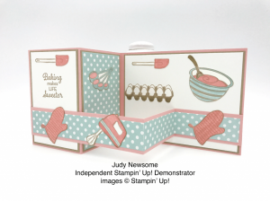 Sweet as can be Double Z Fold card made by Judy Newsome using the Perfect Mix stamp set by Stampin