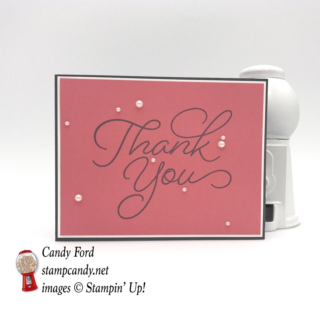 Very quick and easy card made with the So Very Much stamp set by Stampin' Up! #stampcandy