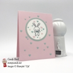Precious little bunny sending love. Made with Basket Bunch stamp set and Layering Circles Framelits Dies by Stampin' Up! #stampcandy