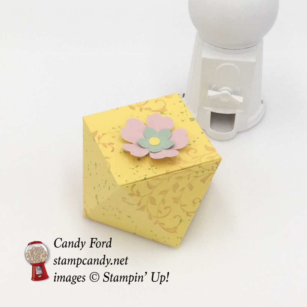 A sweet little gift box using First Sight and Gorgeous Grunge stamp sets by Stampin' Up! #stampcandy