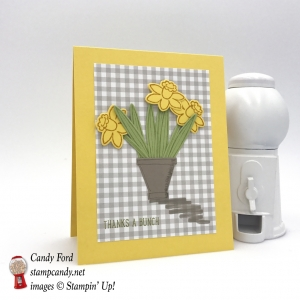 Such an easy card to make with the Basket Bunch Bundle by Stampin