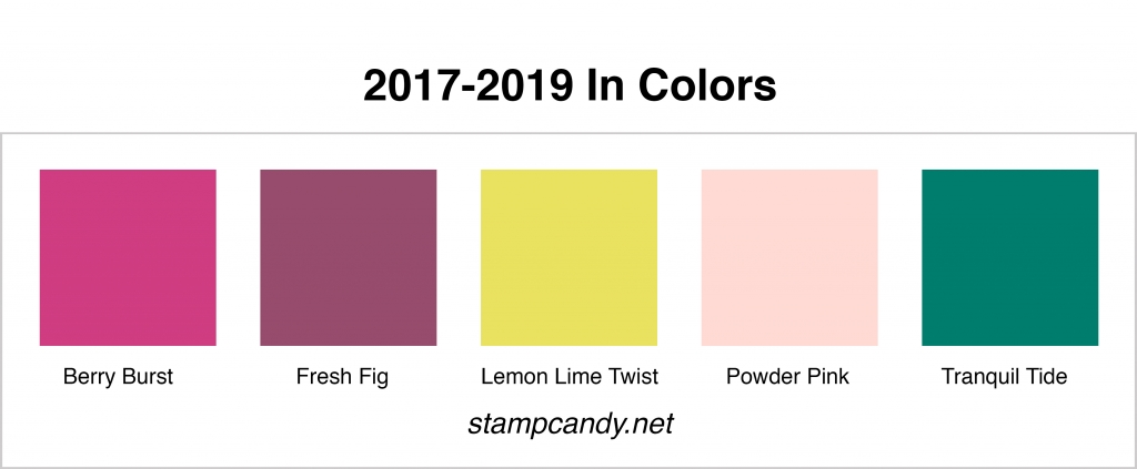 2017-2019 In Colors by Stampin' Up! #stampcandy