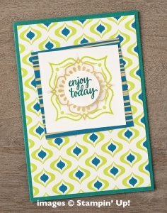 Make this card using the brand new Eastern Palace Suite of products by Stampin