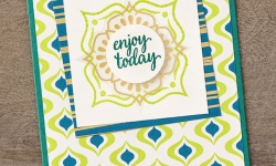 Make this card using the brand new Eastern Palace Suite of products by Stampin' Up! #stampcandy