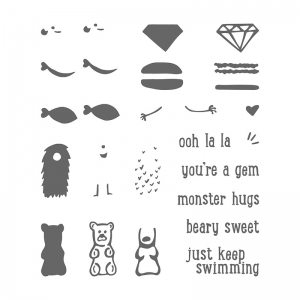 Just Keep Swimming stamp set by Stampin' Up! #stampcandy