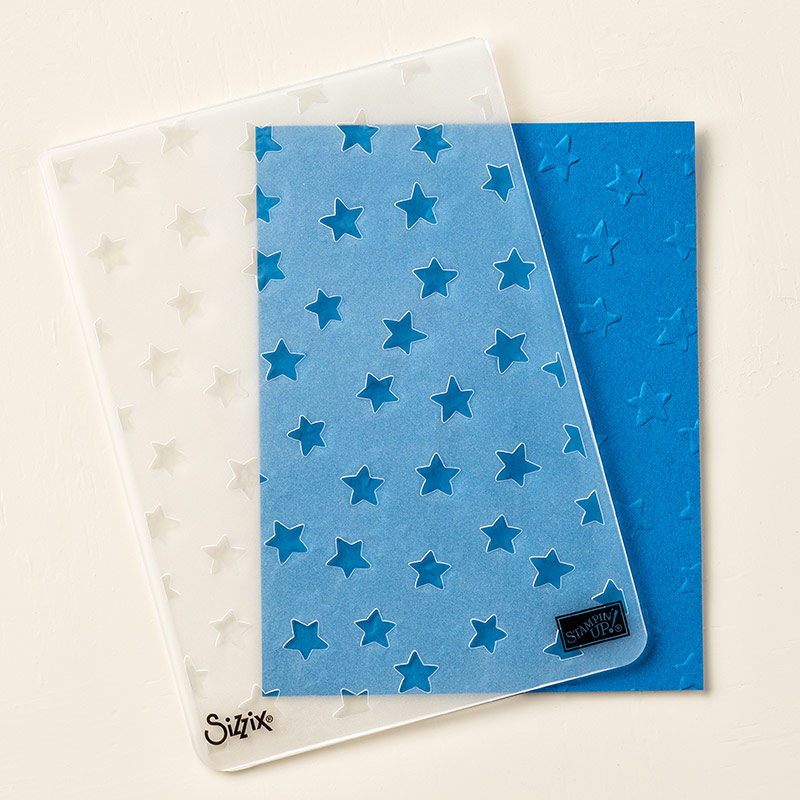 Lucky Stars embossing folder by Stampin' Up! #stampcandy