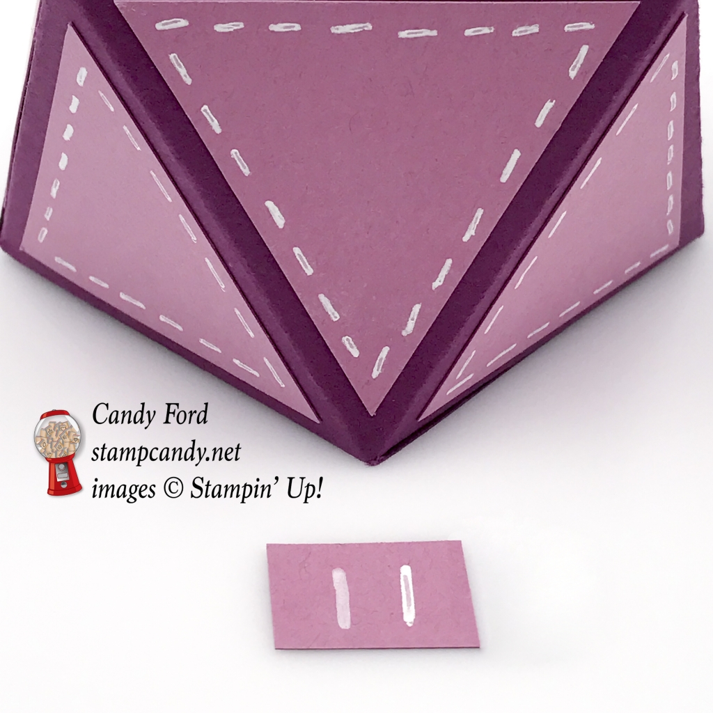 Easy peasy faceted box made with Thoughtful Banners ad Balloon Celebrations by Stampin' Up! #stampcandy