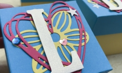 Super quick and easy boxes made using Large Letters Framelits Dies, May Flowers Framelits Dies, and Sunshine Wishes Thinlits Dies by Stampin' Up! #stampcandy