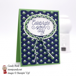 Pretty card made using Floral Boutique DSP and Designer Tin of Cards stamp set by Stampin
