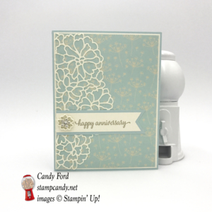 This exquisite Happy Anniversary card is made with the So In Love bundle, stamp set, So Detailed Thinlits Dies, Falling In Love DSP and embellishments by Stampin