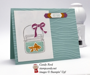 Cute Best Fishes card made with Jar of Love Bundle by Stampin