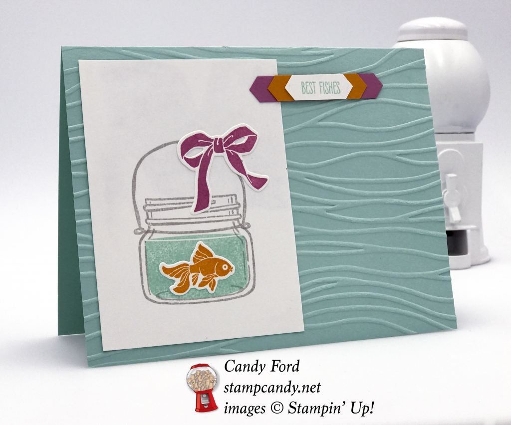 Cute Best Fishes card made with Jar of Love Bundle by Stampin' Up! #stampcandy