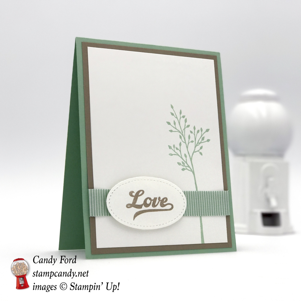 Love card (with no jar!) made with Jar of Love stamp set by Stampin' Up! #stampcandy