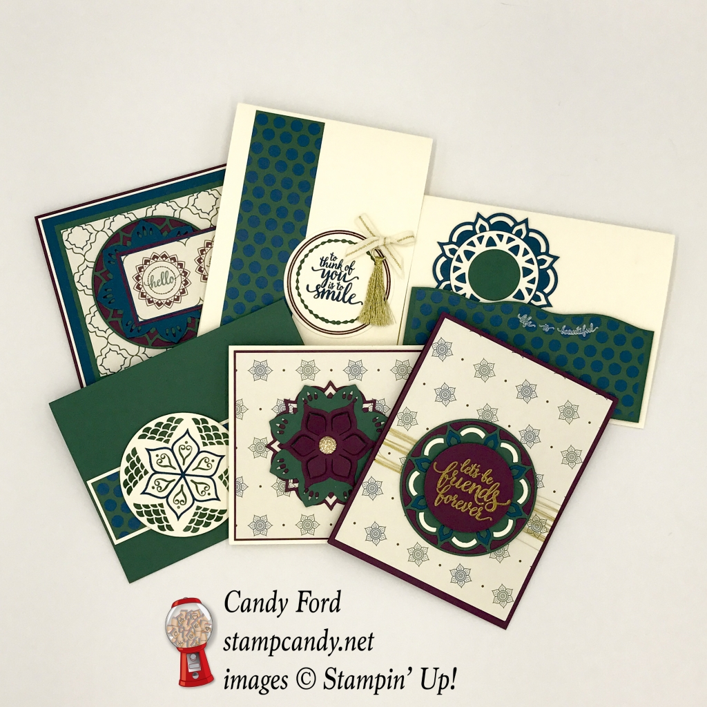 Eastern Palace DSP by Stampin' Up! One sheet wonder - 6 of 12 cards! #stampcandy