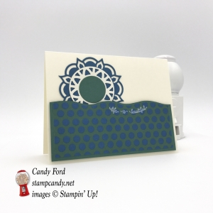 The third card of a twelve card One Sheet Wonder made with the Eastern Palace Beauty Medallions bundle suite by Stampin