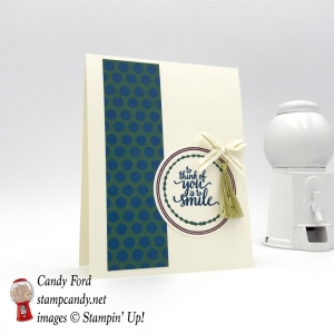 This card uses the new Eastern Beauty stamp set, Eastern Palace DSP paper, and Mini Tassel Assortment by Stampin