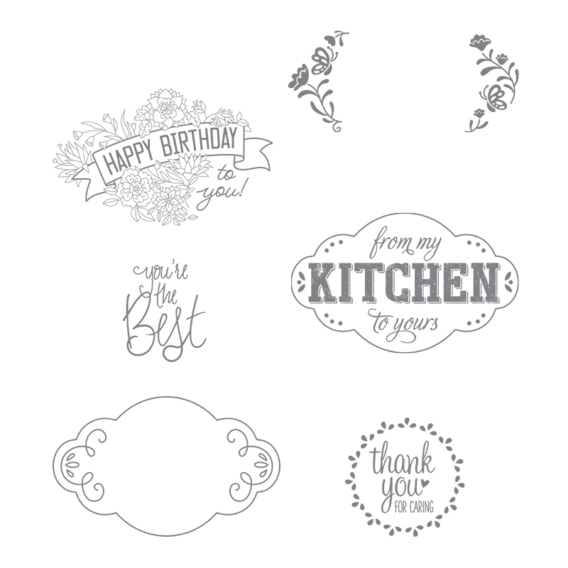 Label Me Pretty stamp set by Stampin' Up! #stampcandy
