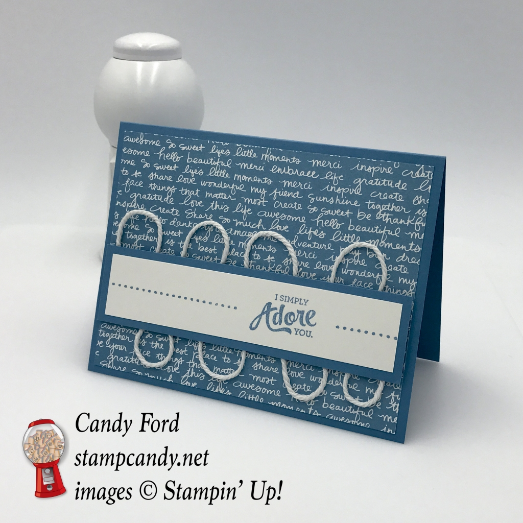Sweet blue card made with Mixed Borders stamp set by Stampin' Up! #stampcandy