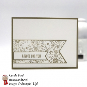 I used the Wood Words stamp set to make this dainty card. Stampin