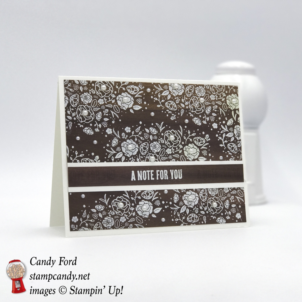 I used the Wood Words stamp set and Wood Textures DSP by Stampin' Up! to make this lovely card. #stampcandy